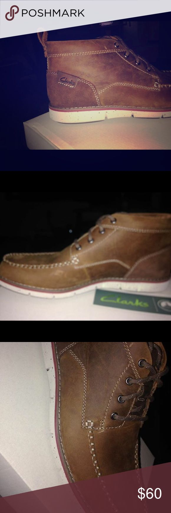 Men's Clarks 9.5 Size 9.5 Unfortunately this was a gift for someone and is the wrong size.  Retails $79.99 plus shipping Clarks Shoes Sneakers