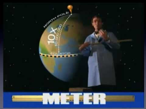 Intro Metric System- Bill Nye the Science guy, but it has weird powerpoint slides mixed in