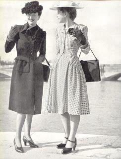 1940's Fashion - young woman's wardrobe plan | Glamourdaze