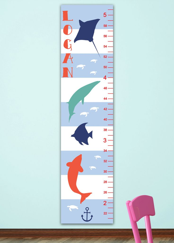 13 best Nautical Nursery Decor images on Pinterest Growth charts - boys growth chart