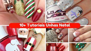 10+ Tutoriais de Unhas para o Natal