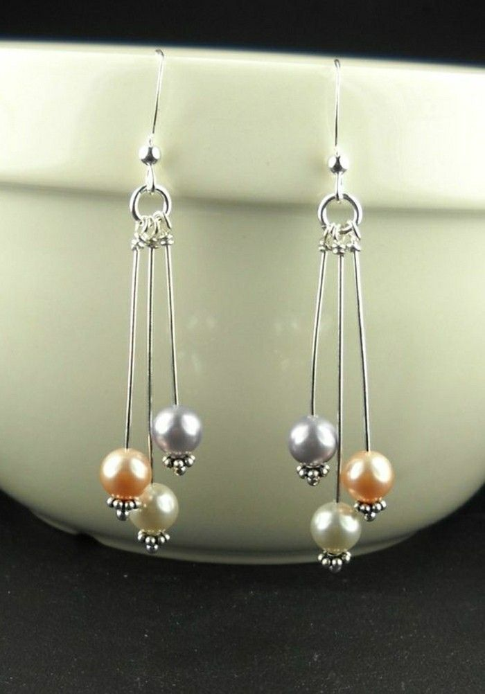 lange Ohrringe echte perlen