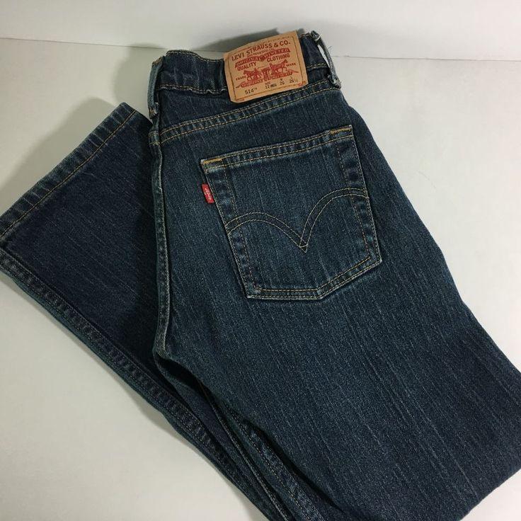 Levis 514 Jeans Slim Straight Boys Size 12 Regular Denim Red Tab 26 x 26 1/2 #Levis #SlimSkinny #DressyEverydayHoliday