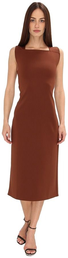 Calvin Klein Sheath Dress (Henna) - Apparel on shopstyle.com