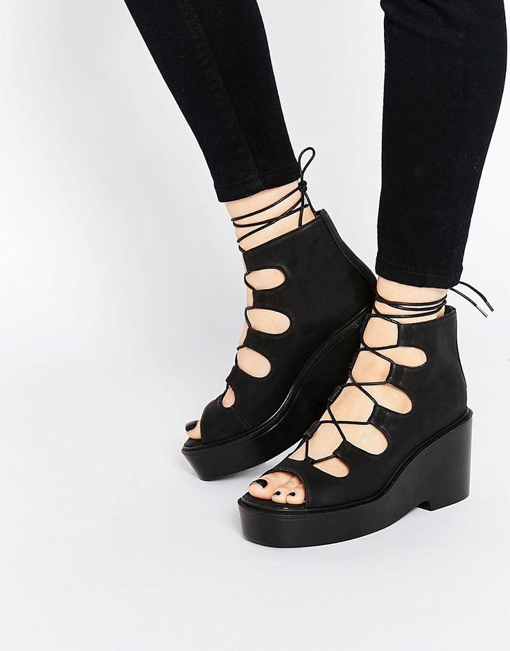 Image 1 ofASOS EXPRESSWAY Lace Up Ankle Boots