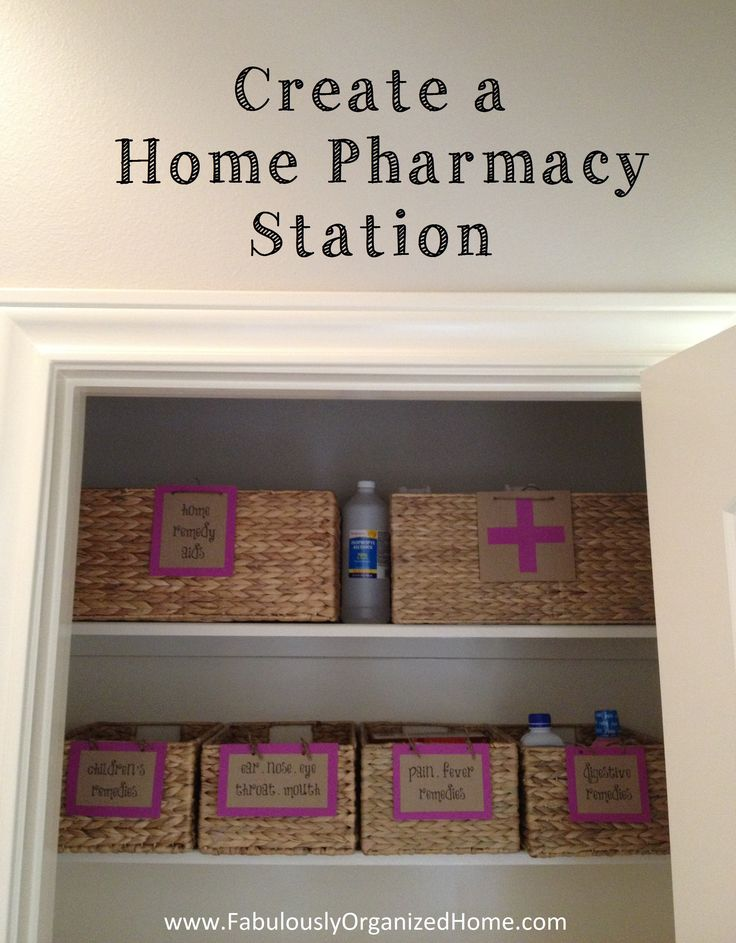 {the weekend organizer} create an organized home pharmacy nook | Fabulously Organized Home