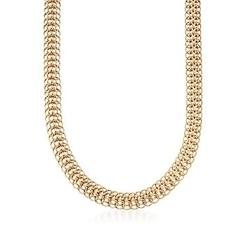 14kt Yellow Gold Hand-Woven Link Necklace