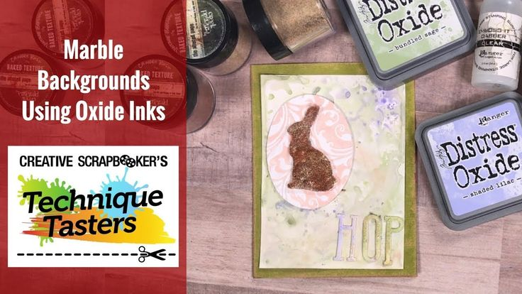 Marble Backgrounds for Easter Cards Using Oxide Inks - Technique Taster ...