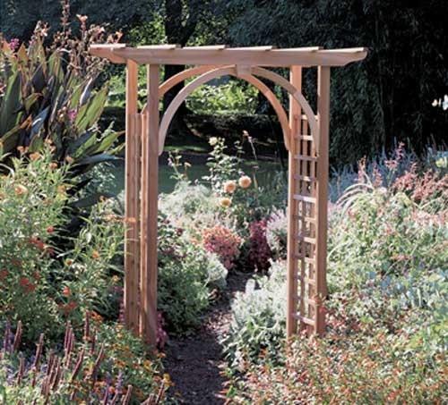 Rustic Natural Cedar Westport Arbor ~ Love
