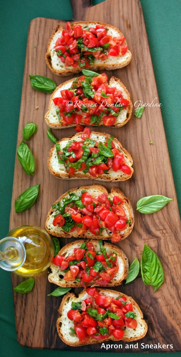 Apron and Sneakers - Cooking & Traveling in Italy and Beyond: Bruschetta with Tomatoes & Basil (Bruschetta al Pomodoro)