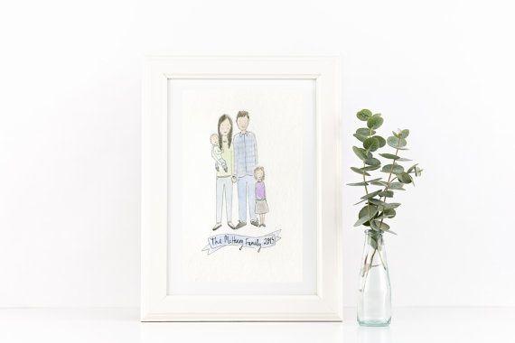 Custom Watercolour Portrait // Couple by littlemepaperco on Etsy