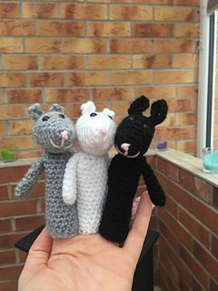 Ravelry: Finger Puppets Three Blind Mice pattern by Christine Gibson