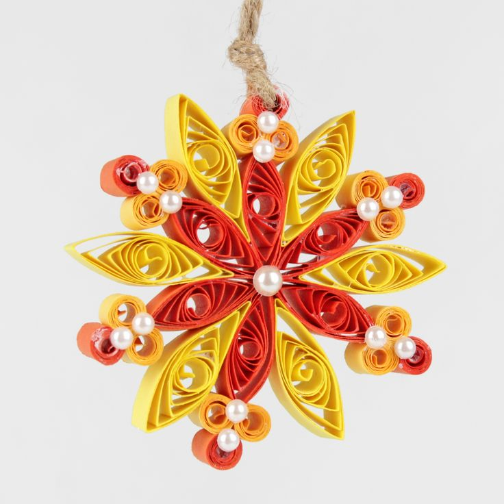 Christmas Yellow quilling Quilling snowflake
