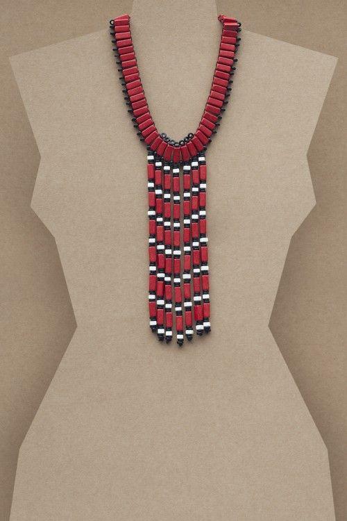 Artemis Necklace #necklace #jewellery #jewelry #fashionaccessories #accessories #beadednecklace #ceramicbeads #ethnicstyle #bohostyle