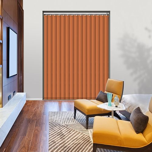 Controliss Oscuro Tangerine 240V AC mains RTS remote control electric vertical blind.