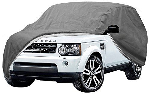 OxGord Signature Auto Cover - 100 Water-Proof 5 Layers - True Mastepiece - Ready-Fit Semi Glove Fit for SUV, Van Truck - Fits up to 171 Inches. For product info go to:  https://www.caraccessoriesonlinemarket.com/oxgord-signature-auto-cover-100-water-proof-5-layers-true-mastepiece-ready-fit-semi-glove-fit-for-suv-van-truck-fits-up-to-171-inches/