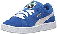PUMA Suede PS Classic Kids Sneaker (Toddler/ Little Kid/ Big Kid), Snorkel Blue/ White, 11 M US Little Kid