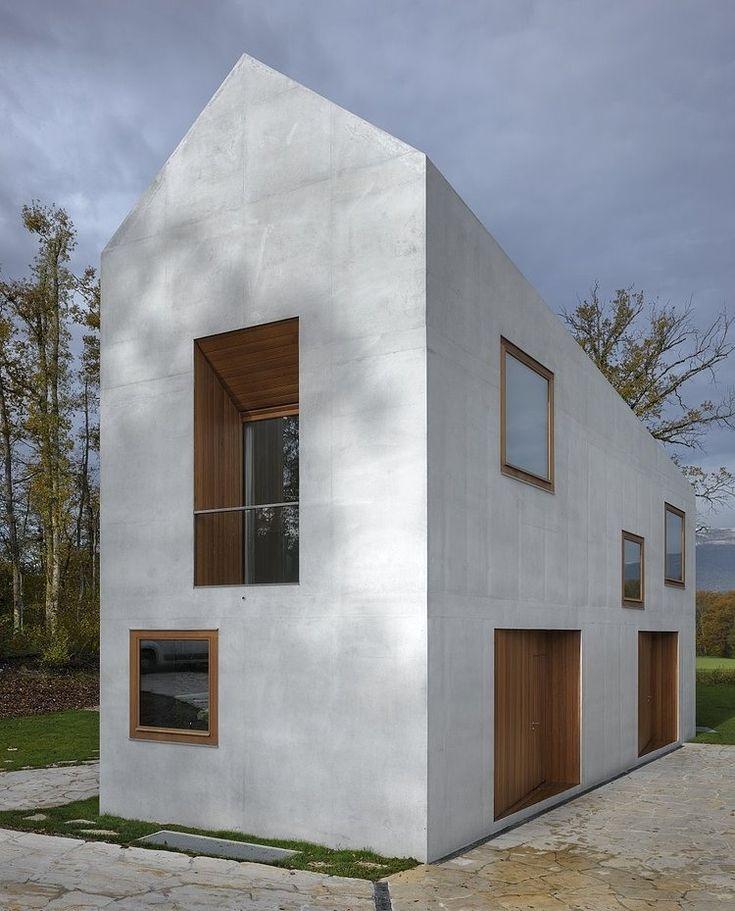 Ganz modernes Zweifamilienhaus im Bauhausstil >> Two in one family House - Geneva, Switzerland | house . Haus . maison | Architect: Clavienrossier Architectes |