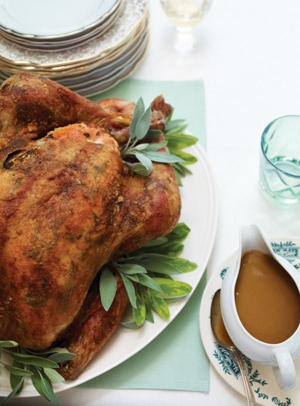 Ricardo's recipe : Roasted Turkey with Sage Butter and Marsala Sauce