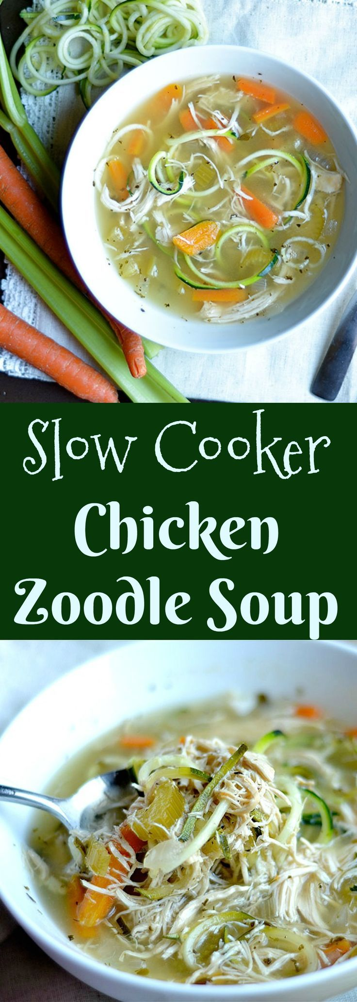 Super easy classic soup that is made in your Slow Cooker! Also perfect for Turkey leftovers!