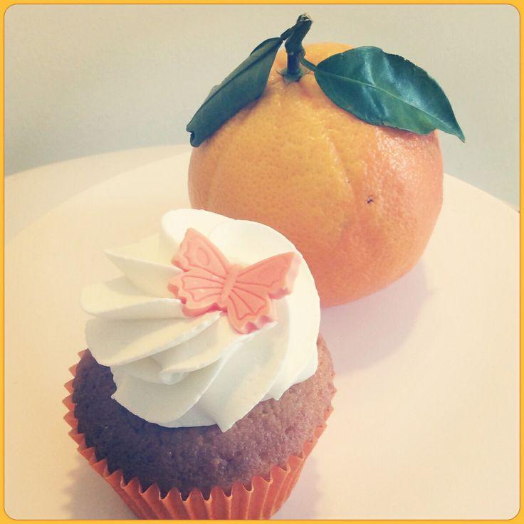 Orange cupcake.
