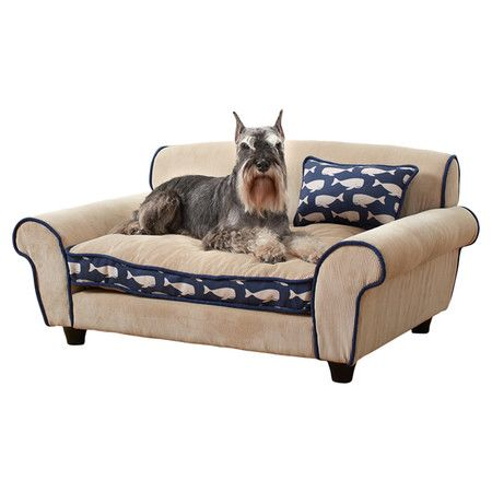 dog bed couch navy whales pet sofa drafts free sleeping new home canine supplies in pet supplies dog supplies beds