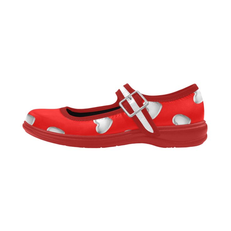 #Silver 3-D Look #Valentine #Love #Hearts on #Red #Virgo Instep Deep Mouth Shoes   #shoes #sneakers #footwear #mens #womens #childrens #hightops #kids #sale #gifts #art #fashion #BuffaloNY Artsadd