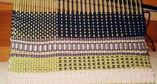 Weft faced weaving