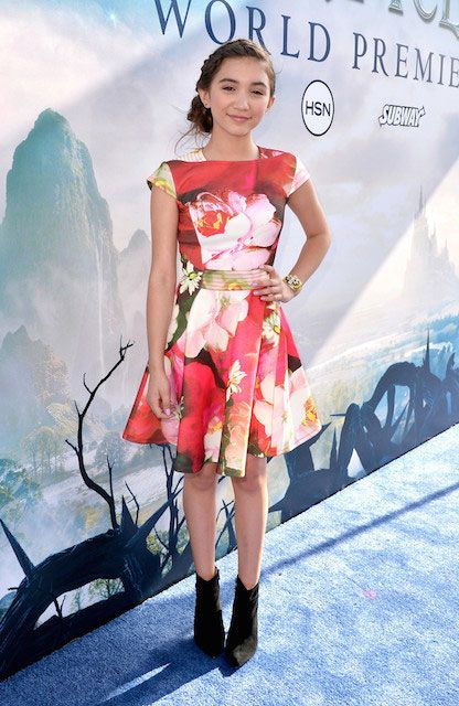 Rowan Blanchard at 'Maleficent' premiere in Hollywood...