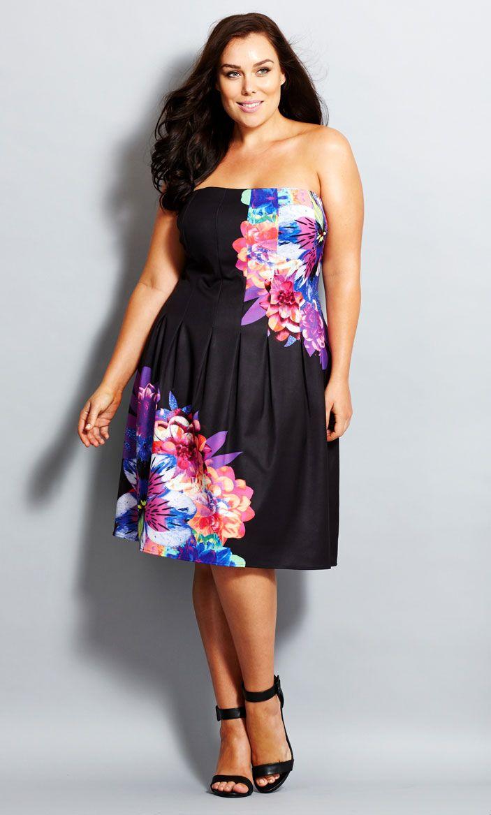 City Chic - SUMMER FLORAL DRESS - Women's Plus Size Fashion