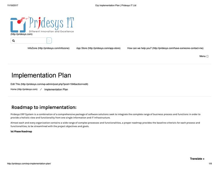Erp Implementation Plan  Newspaper Pride And Authors