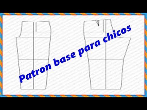 """Como hacer el trazo base de pantalon para chicos """"Peticion"""" - YouTube"""
