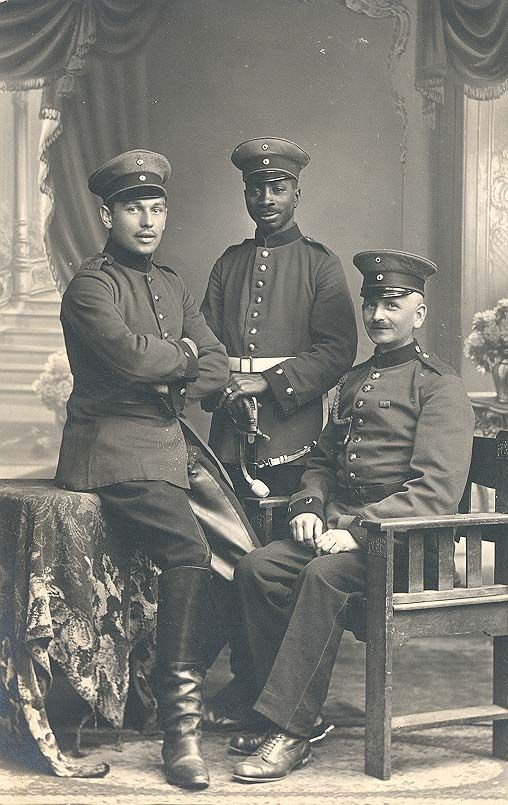 This black soldier in the German Imperial Army is most likely Josef Mambo, born in German East Africa in 1885, moved to Germany in 1897 and twice wounded in East Prussia and Verdun, ca., 1915.