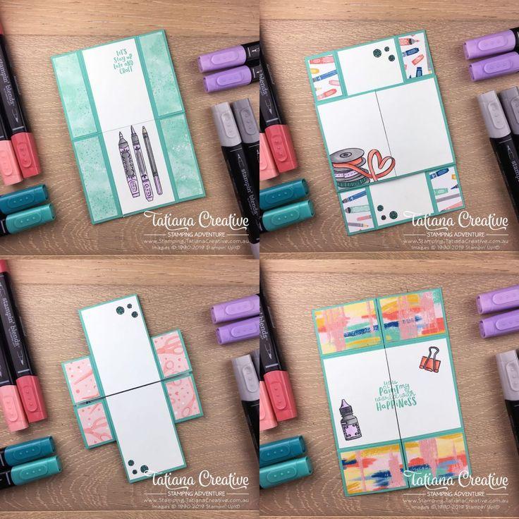 creativity time  never ending card tutorial  tatiana