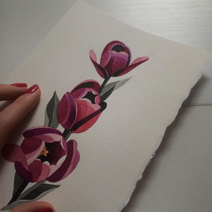 """#tulips #watercolor #sashaunisex #bracelettattoo """