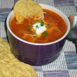 Great spicy chicken soup