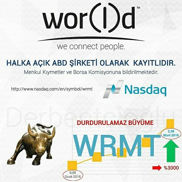 WOR(I)D yükselen bir değer.  WOR(l)D is a rising value.  #otcmarkets #OtcQB #nasdaq #wrmt  wor(l)d | your network  Alışılmışın dışında düşünün...  Think out of the box...   #WorldGN #wear #Helo #health #5GHz #SpaceLumina #SpaceStation #SpacePhone #Technology #Teknoloji #Telecommunication #Telekomünikasyon #GiyilebilirTeknoloji #WearableTechnology #SmartPhone #SmartPc #işfırsatı #ekgelir #işarayanlar #android #cellphone #WGN #SpacePhone5GS #NewTrend #ionlywantyou