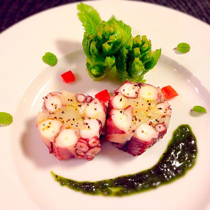 蛸とジャガ芋のテリーヌ風