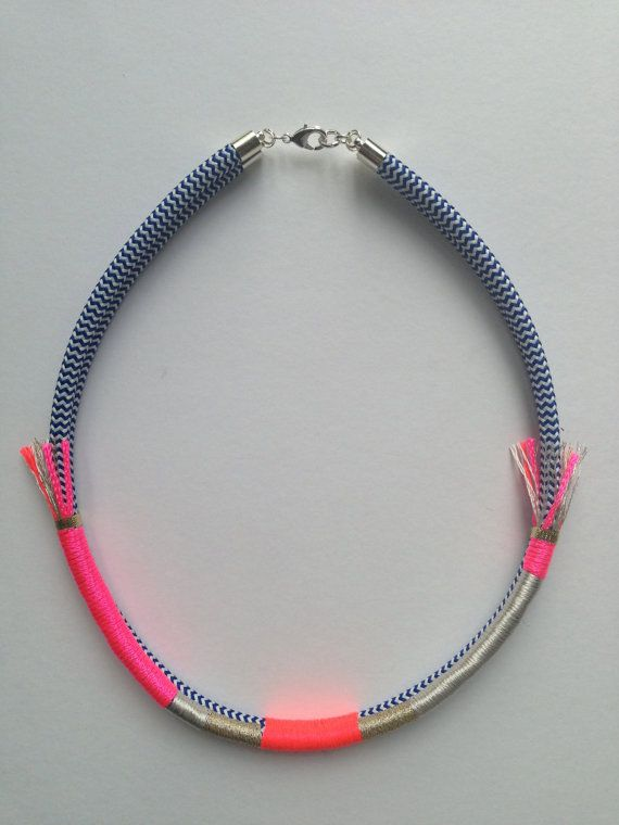 Dress Circle necklace neon pink on Etsy, $69.00 AUD