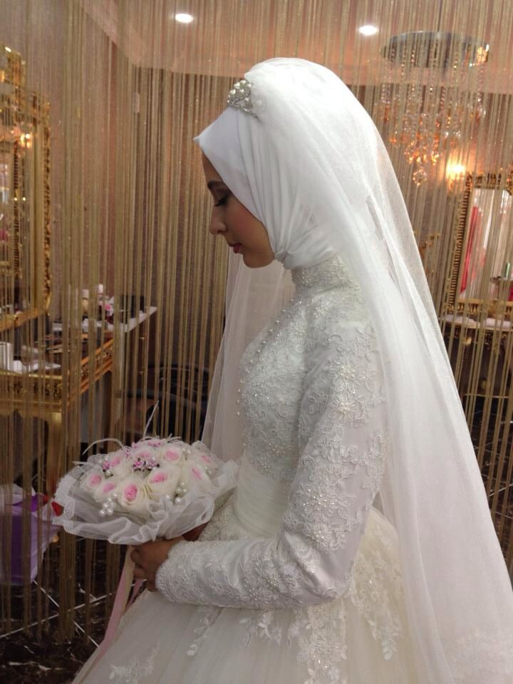 Tesettür gelinlik hijab wedding dress