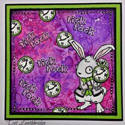 Visible Image stamps - White Rabbit - Wonderland characters - Dot Leathbridge