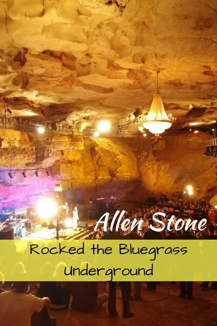 Allen Stone Concert in a cave at the Bluegrass Underground (Cumberland Caverns) in McMinnville Tennessee