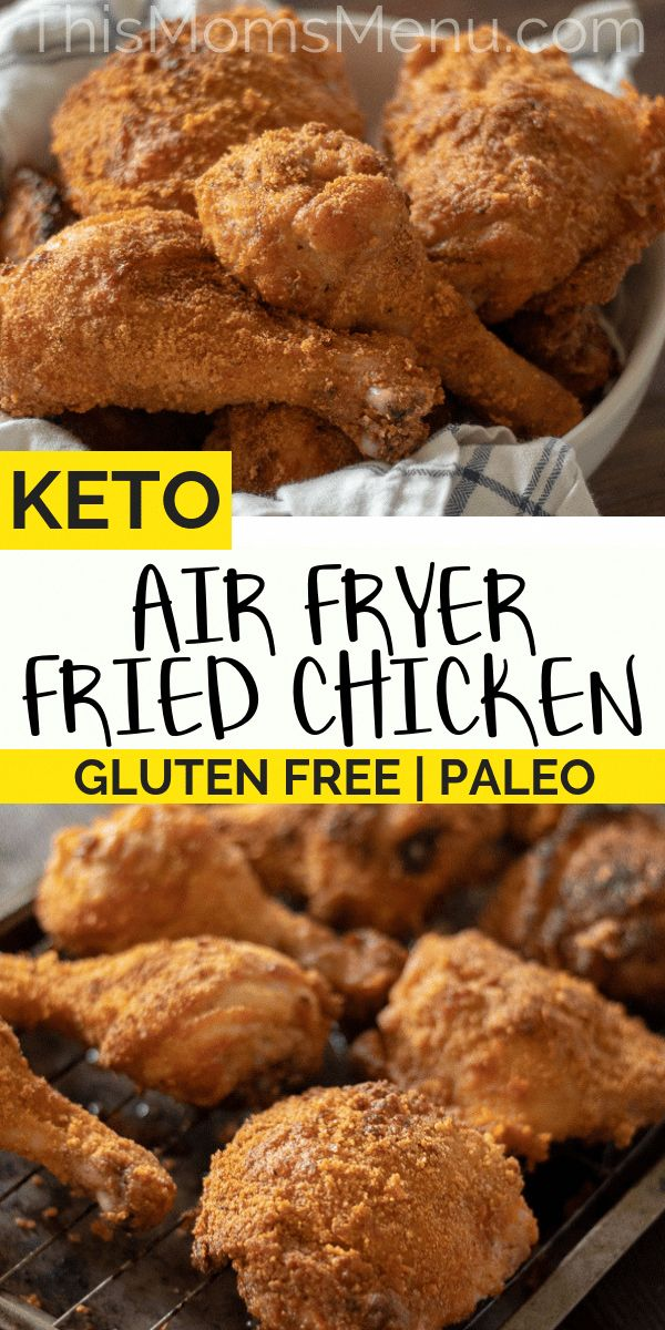 Air Fryer Keto Fried Chicken Paleo, Gluten Free Recipe