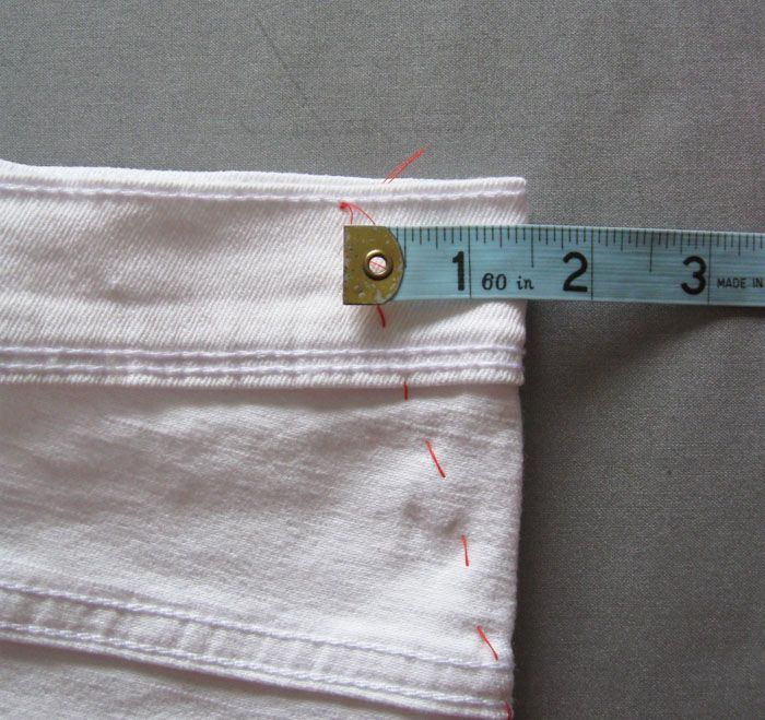 how to take in waist of jeans without sewing