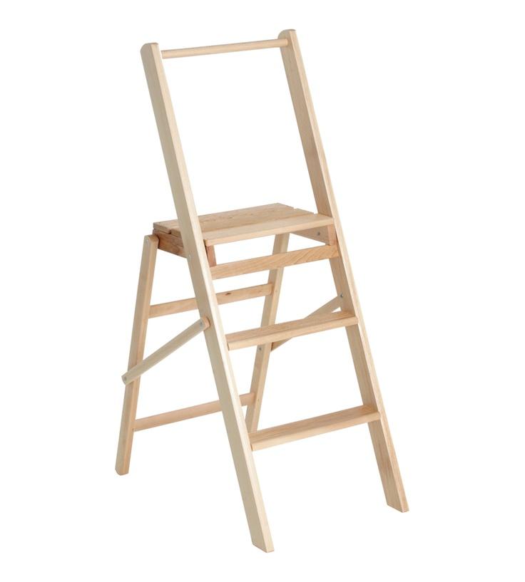 Beech Folding Ladder Things Wooden Steps Folding
