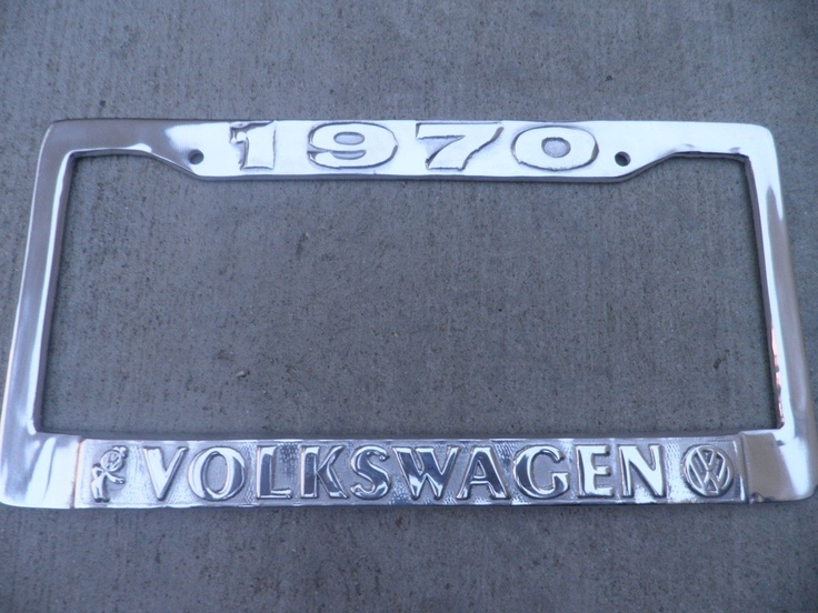 Aluminum License Plate Frame >> VW 1970 Cast Aluminum LICENSE PLATE FRAME Beetle,Bus ...