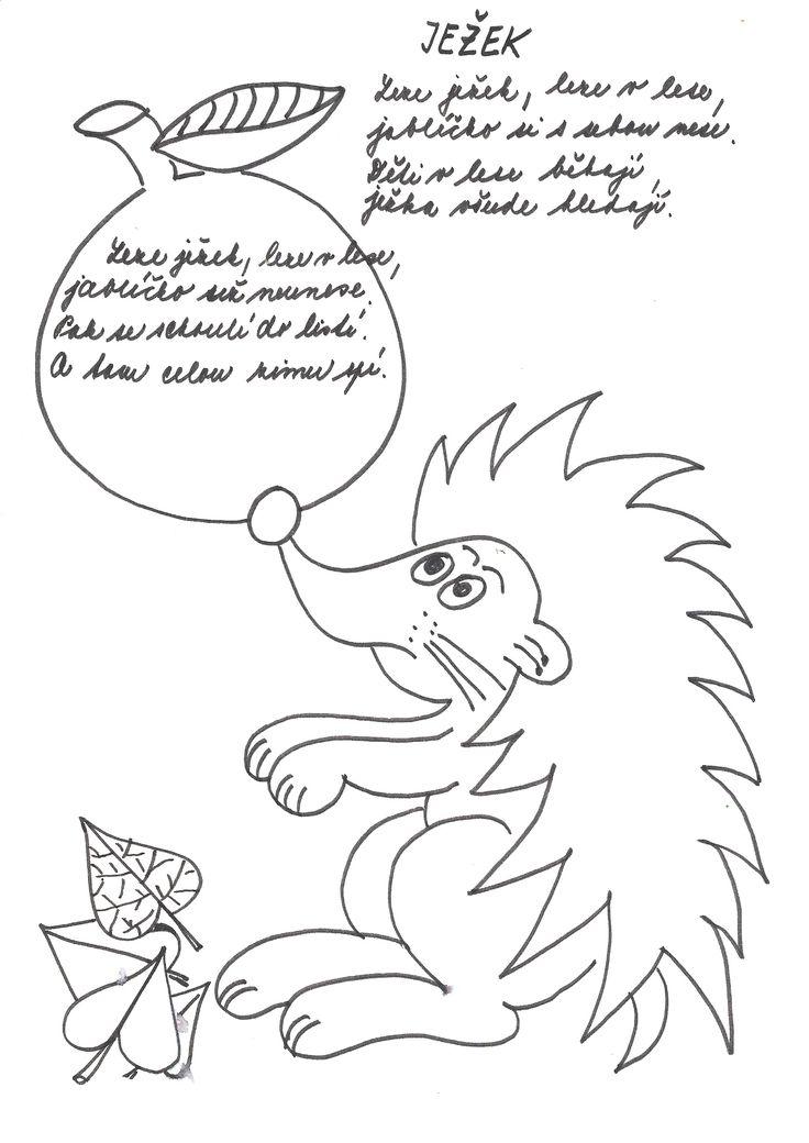Ježek | Předškoláci.cz - omalovánky, pracovní listy