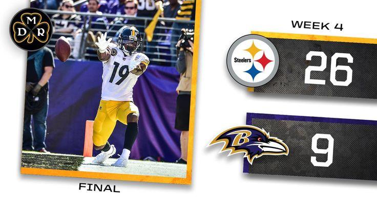10-1-2017  Steelers win vs Ravens!