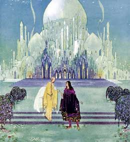 They walked side by side, from Old French Fairy Tales, illustrated by Virginia Sterrett