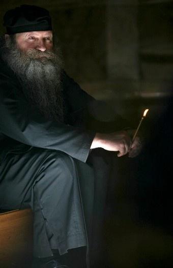 Eastern Orthodox monk. Unlike western monastics, Easterners don't have various orders, the just have The monastic order.